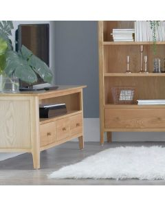 Noah Oak 3 Drawer TV Cabinet