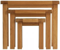 Oakhouse Oak Nest of 3 Table