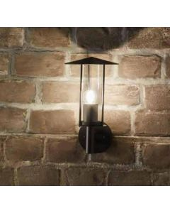 Outdoor Dark Grey Metal Chimney Style Wall Light