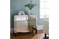 Palma Mirrored 4 Drawer Chest