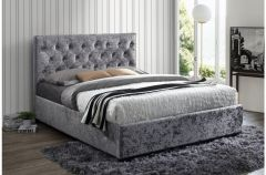 Paris Grey Or Crushed Velvet Upholstered Bed Frames