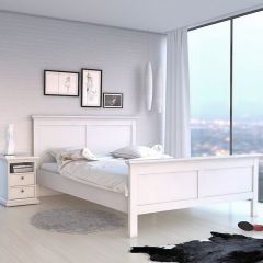 Paris Bed Frame White or Grey