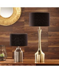 Parsons Shiny Gold Tall Neck Metal Table Lamp - Base Only