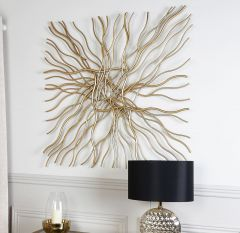 Pippa Large Gold Metal Wall Art