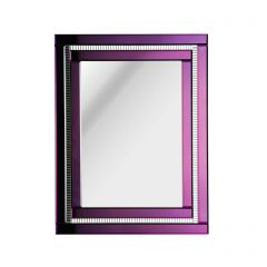 Purple Edged Art Deco Mirror
