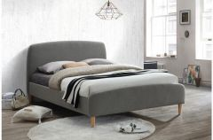 Quebec Grey Upholstered Bed Frames