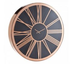 Retro Copper and Black Wall Clock