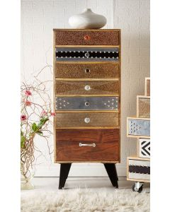 Retro Patch 7 Drawer Chest