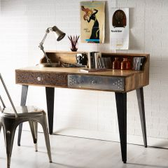 Retro Patch Console Table