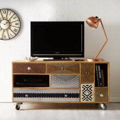 Retro Patch Large TV Unit
