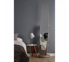Revolving Floor Standing Mirror with Shelves