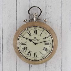 Retro Nickel Stopwatch Wall Clock