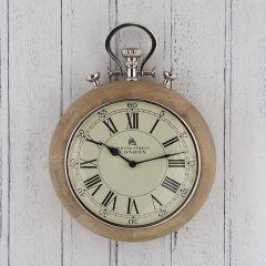 Retro Nickel Stopwatch Wall Clock