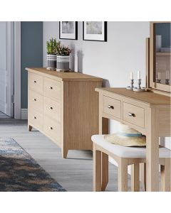 Richtown Oak 2 Drawer Dressing Table