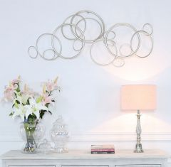 Rosie 124.5cm Wide Gun Metal Circle Wall Art