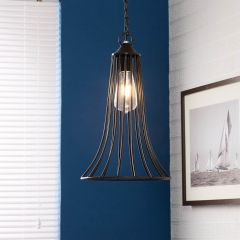 Rustic Iron Industrial Cage Ceiling Light