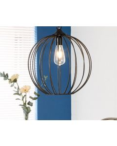 Rustic Iron Industrial Wire Ceiling Light