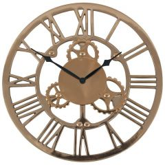 Rustic Gold Cog Style Wall Clock