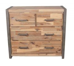 Salvatore Acacia Wood 4 Drawer Chest
