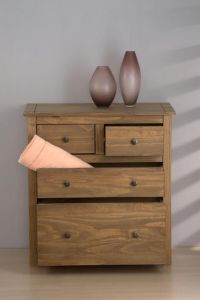 Santi Distressed Pine 2 +2 Drawer Chest