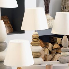 Seascape Large Natural Ceramic Pebble Table Lamp