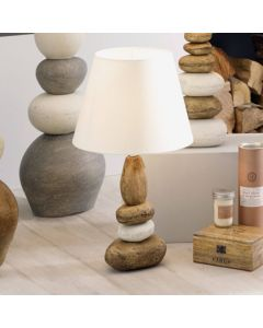 Seascape Small Natural Ceramic Pebble Table Lamp