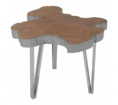 Shakir Stainless Steel Side Table