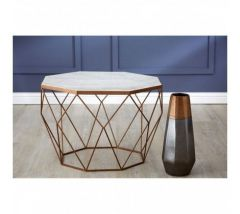 Shazaar Copper Octagon Coffee Table
