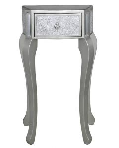 Silver Mosaic Telephone Table With Champagne Trim