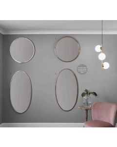 Sia Gold Metal Oval Wall Mirror