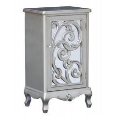 Silver Paisley Tall 1 Door Cupboard