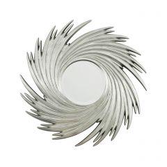 Silver Sunburst Swirl Mirror