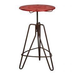 Small Round Artisan Table - Red