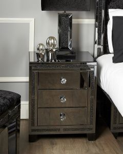 Smoked Glass Jersey Bedside Cabinet