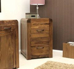 Solid Walnut Two Drawer Filing Cabinet