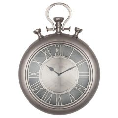Stafford Mills Nickel Stopwatch Wall Clock