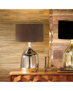 Stellar Mercurial Glass Dual Light Table Lamp