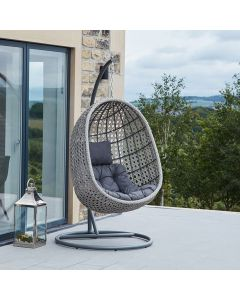 Stone Grey Single Hanging Chair