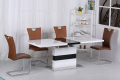 Sunrise Gloss Extending Dining Set