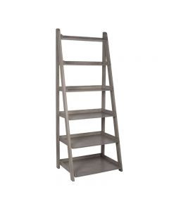 Taupe Pine Wood 6 Tier Bookcase