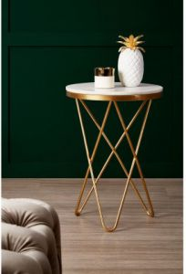 Templar Iron Accent Table with Hairpin Legs