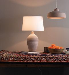 Terracotta Ribbed Table Lamp