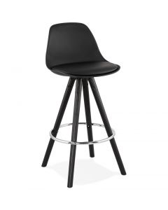Theo Black PU Leather Designer Bar Chair