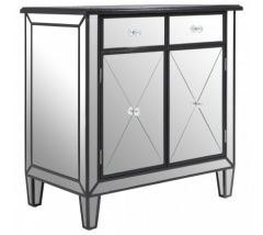 Tiffany Silver  3 Drawer Mirrored Sideboard