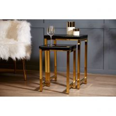 Kent Black and Gold Nest of Tables