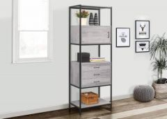 Townville Concrete Effect 3 Drawer Shelving Unit