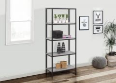 Townville Concrete Effect 5 Tier Bookcase
