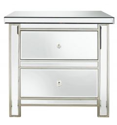 Traditional Mirrored 2 Drawer Chest