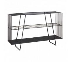 Trent Console Table With Grey Glass Top