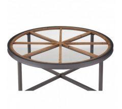 Trinity Round Glass Top Coffee Table